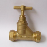 Brass 22mm Compression Stopcock  - 07001610
